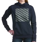 Tarpon Pattern Women's Hooded Sweatshirt