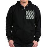 Tarpon Pattern Zip Hoodie