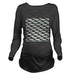 Tarpon Pattern Long Sleeve Maternity T-Shirt