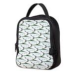 Tarpon Pattern Neoprene Lunch Bag