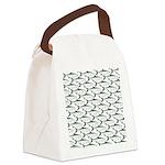 Tarpon Pattern Canvas Lunch Bag