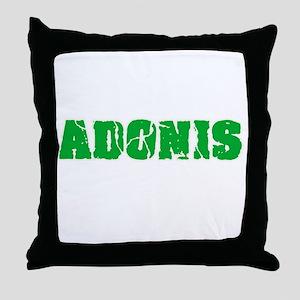 Adonis Name Weathered Green Design Throw Pillow