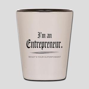 Entrepreneur Superpower Shot Glass