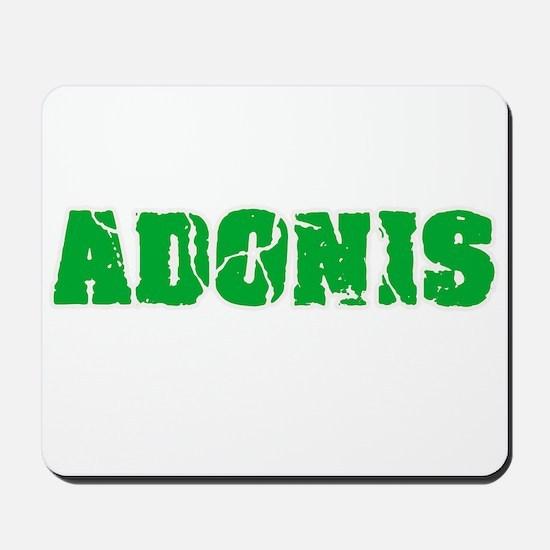 Adonis Name Weathered Green Design Mousepad