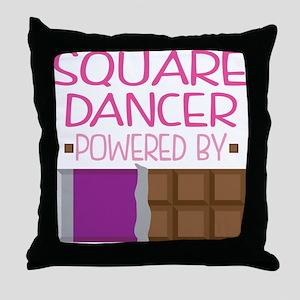 Square Dancer Throw Pillow