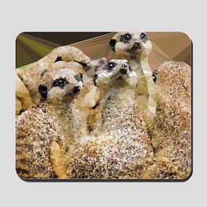 Meerkats Geometric Low Poly Mousepad