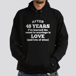 48 Years Of Love And Wine Hoodie