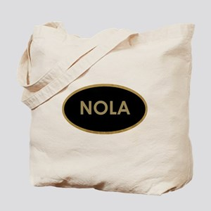 NOLA BLACK AND GOLD Tote Bag