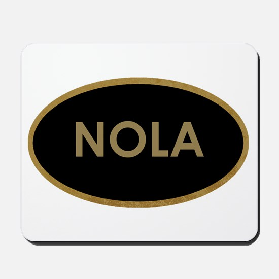 NOLA BLACK AND GOLD Mousepad