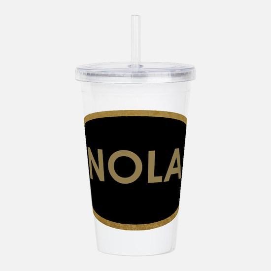NOLA BLACK AND GOLD Acrylic Double-wall Tumbler