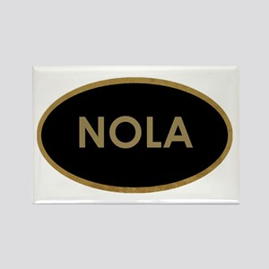 NOLA BLACK AND GOLD Magnets
