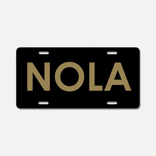 NOLA BLACK AND GOLD Aluminum License Plate