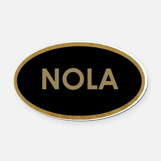 NOLA BLACK AND GOLD Oval Car Magnet