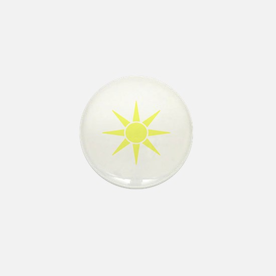 Subtle Yellow Sun Mini Button