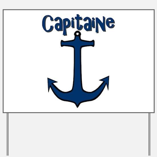Capitaine ancre de bateau Yard Sign