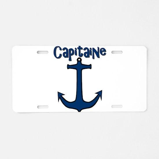 Capitaine ancre de bateau Aluminum License Plate