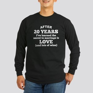 20 Years Of Love And Wine Long Sleeve T-Shirt