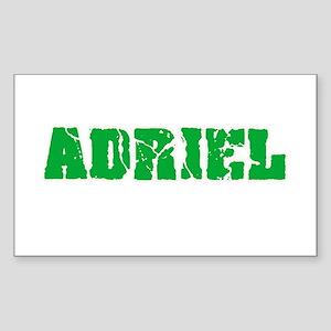 Adriel Name Weathered Green Design Sticker
