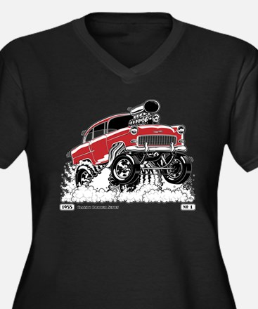 LIVE TO ROD 1955 Gasser Plus Size T-Shirt