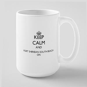 Keep calm and Fort Sheridan South Beach Illin Mugs