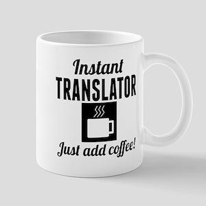 Instant Translator Just Add Coffee Mugs