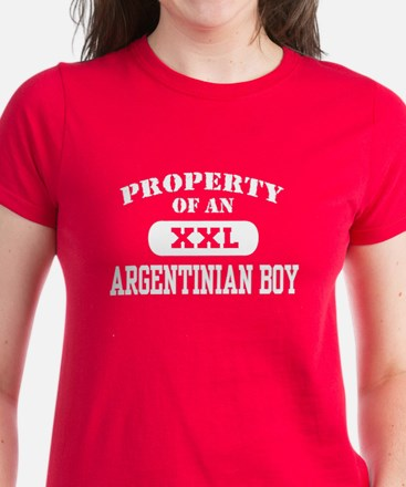 Property of an Argentinian Boy Women's Dark T-Shir