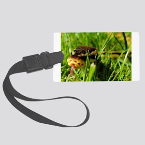 snake ball python in grass Luggage Tag