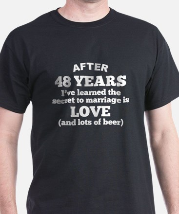 48 Years Of Love And Beer T-Shirt