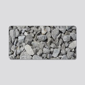 pebbles and rocks Aluminum License Plate