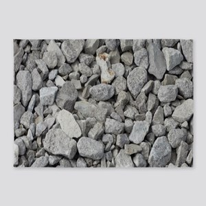 pebbles and rocks 5'x7'Area Rug