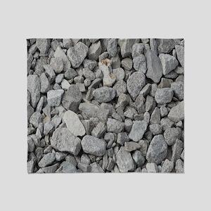 pebbles and rocks Throw Blanket