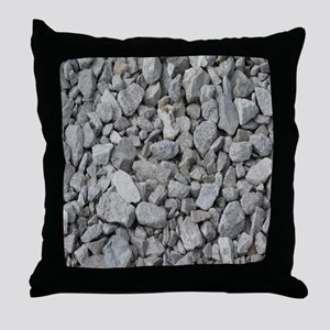 pebbles and rocks Throw Pillow