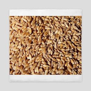 many small wheat grains Queen Duvet