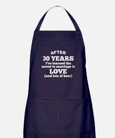 30 Years Of Love And Beer Apron (dark)