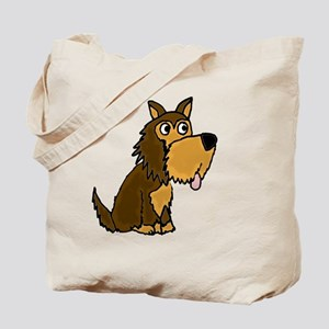 Funny Yorkie Dog Cartoon Tote Bag