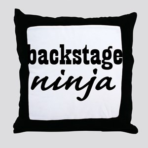 Backstage Ninja Throw Pillow