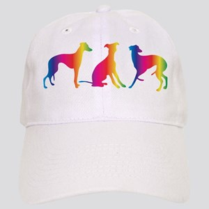 Three little colourful whippets Baseball Cap