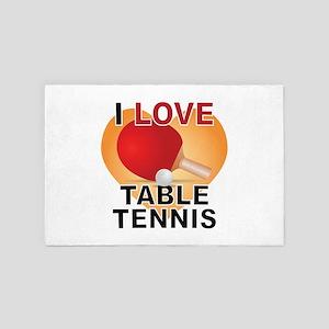 Love Table Tennis 4' x 6' Rug