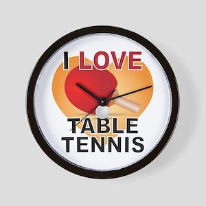 Love Table Tennis Wall Clock
