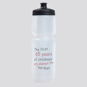 The First 65 Years Of Childhood Sports Bottle