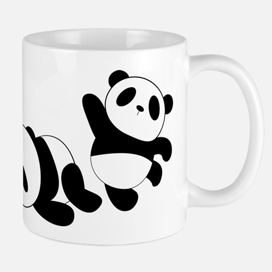 Three little giant pandas Mugs