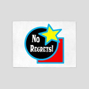 No Regrets 5'x7'Area Rug
