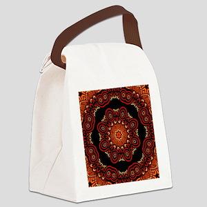 Ornate Middle Eastern Medallion Canvas Lunch Bag