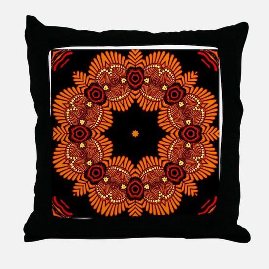Ornate Middle Eastern Medallion Throw Pillow