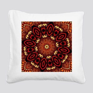 Ornate Middle Eastern Medalli Square Canvas Pillow