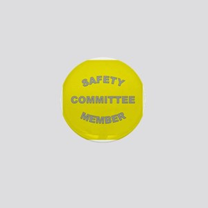 High-Visibility Yellow Safety Mini Button
