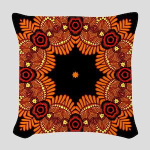 Ornate Middle Eastern Medallio Woven Throw Pillow