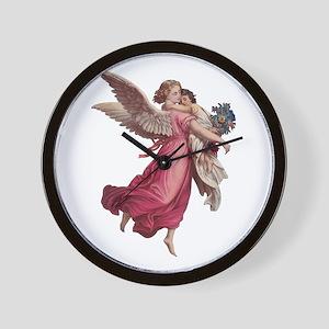 Vintage Christmas, Victorian Angel Wall Clock