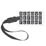 Remove before flight Large Luggage Tag
