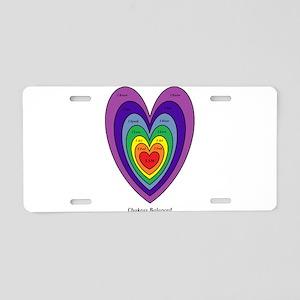 Chakra Balancing Heart Aluminum License Plate